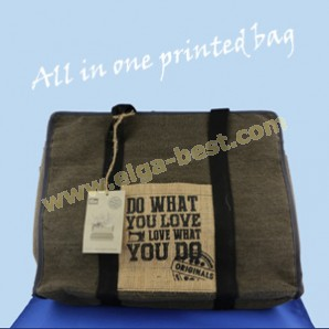All In One Printed Bag Canvas