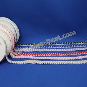 Schrägband baumwolle mit spitze dessin