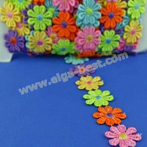 Blumenband daisy flowers multicolour