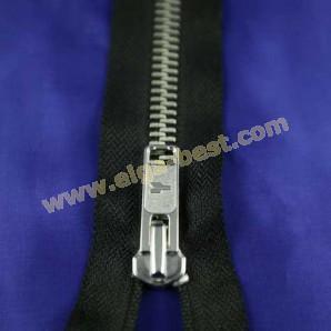 Extra schwere Reißverschluss Nickel 9mm - nicht teilbar