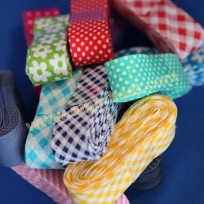 Schrägband baumwolle mit print bündel