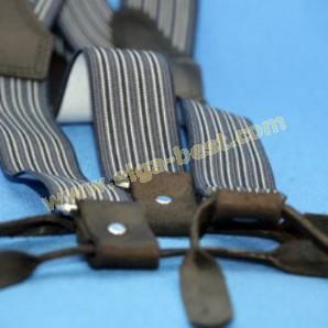 P & B Hosenträger mit Ledere Rückseite
