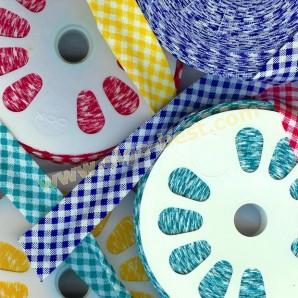 Schrägband baumwolle mit print rolle